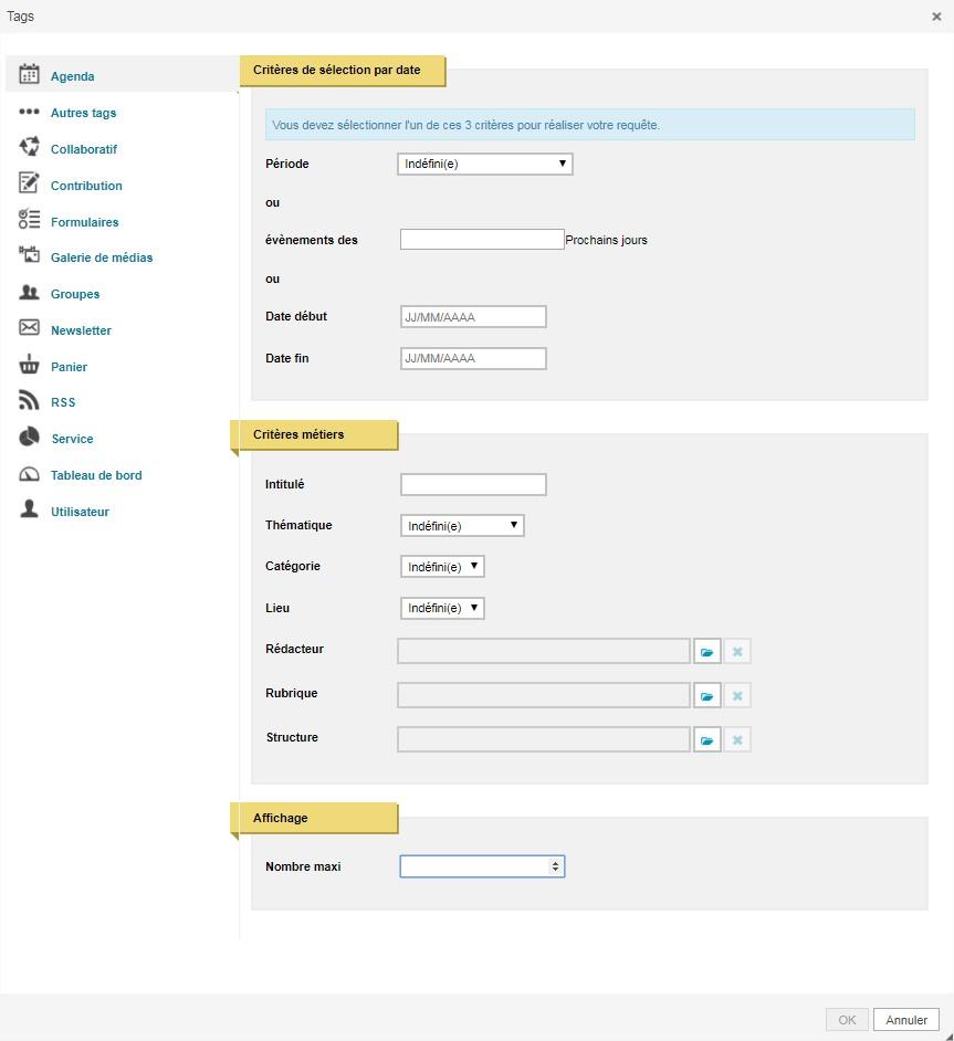 assistant de requête insertion d'une liste de dates