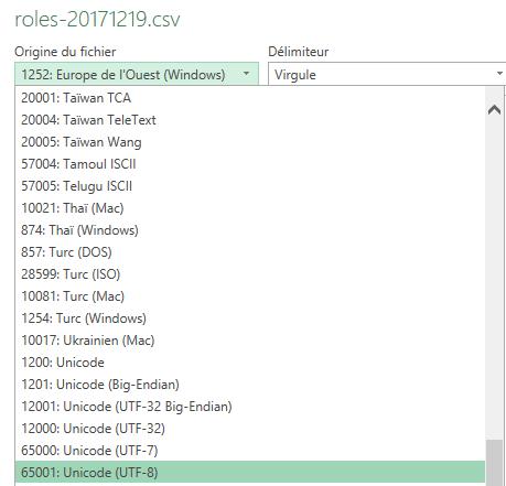 capture import roles.csv Excel - 1