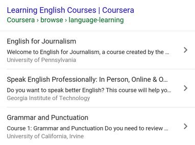 Résultat de recherche pour un contenu de type Course
